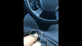 Lunch Break Car Masturbation