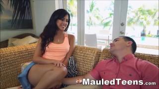 Big Tits Latin Teen Tied And Fucked Hard