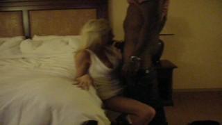 Big Black Bull breeds Hot Blonde Snowbunny Wife