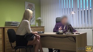 LOAN4K. Bad chick drives without license and has dirty sex for cash