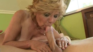 Hairy mature granny pussy fucked from behind