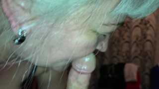 I love mature and granny blowjob with swallow cum! And I love granny gumjob