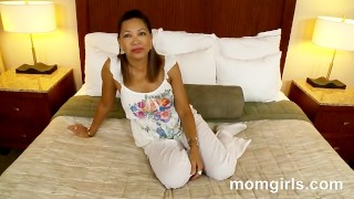 Asian milf does her first adult video