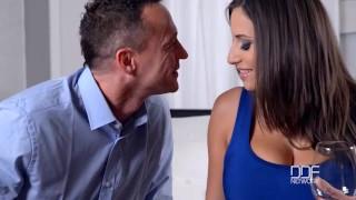 Busty European Sex Goddess gets Titty Fucked Hard