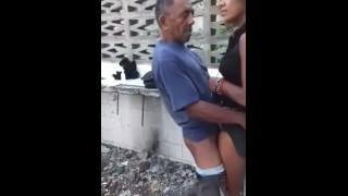 """Funny"" old man fucking hooker outdoor"