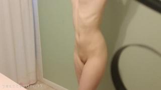 Shower voyeur catches petite girl squirting