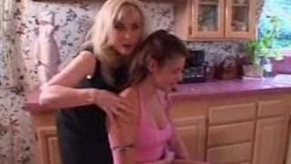 Teeny Arianna seduced, stripped & strap-on fucked