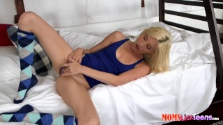 Step-mom catches step-daughter masturbating xx