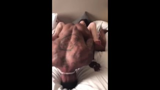 Black cock pounding lil white pussy and I a different position