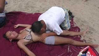 Old street masseur loves bellies (navel finger, lick, bite, breathe)