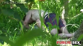 City Park Lovers – Public Voyeur Sex. Spy cam couple fuck in the bushes.
