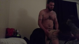 Best friend fucks wife from behind, I get a bj