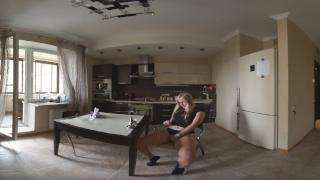 VIRTUAL REALITY STEREOSCOPIC VR 360 3D russian hot teen masturbate kitchen