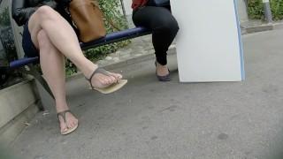 SEXY MILF LEGS CROSSED TOES AMATEUR VOYEUR CANDID 15
