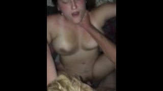 Husband fucks wife after boyfriend gives her facial