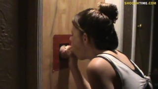 Guy Brings Wife to the Local Glory Hole.