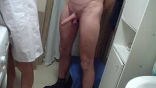 Mrs. Doctor learns and control man´s erection, orgasm and wear panties