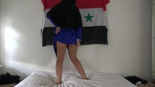 Syrian Teen Shows Ass