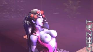 Giantess Widowmaker Grinds on tiny D.va (GIANTESS ANIMATION) (With sound)