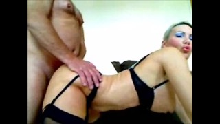 Anal beads in my ass fucking my pussy