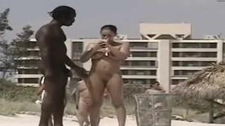 Miami nude beach – big black cock wants hot big titted woman