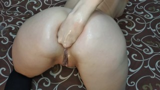 Anal orgasm from fisting with a neighbor in real life