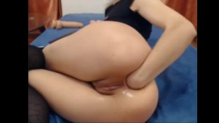 anal fisting super camgirl gapes wide open