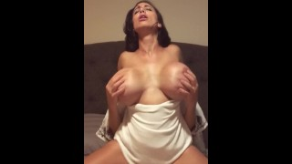 Brittany Elizabeth – Reverse Cowgirl cock pop cum at the end!