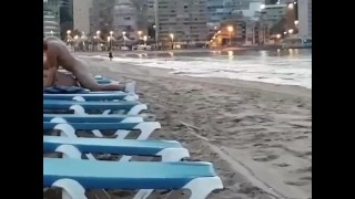 Wife gets pounded by husband in public beach