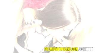 Premium Bukkake – Kira swallows 87 huge mouthful cum loads