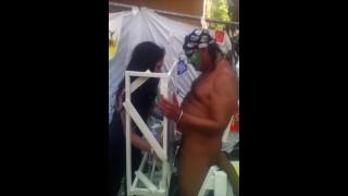 Rocky Angel Naked Public CFNM Performance Art