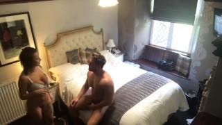 Secret hidden cam hotel spy on hot fit couple fucking with cumshot