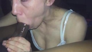 How black cock deep throating is done