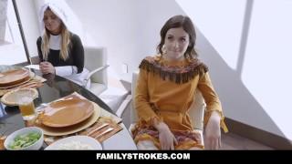 FamilyStrokes – Horny Step Family Fucks Each Other For Thanksgiving