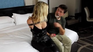 Bondage Submissive girl – Tied up blindfold and gagged