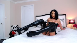 ANAL, LATEX & WHIP MADE ME CUM REALLY HARD
