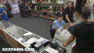 XXX PAWN – Juicy Latin Police Officer No Speaky English