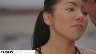 TUSHY.com Young asian girl takes cum inside her asshole