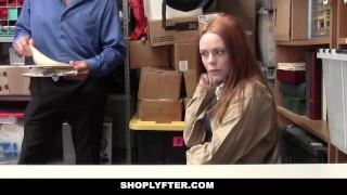 ShopLyfter – Redhead Teen Got Caught Stealing
