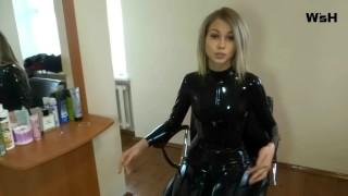 Svetlana in Black Latex Catsuit part 2