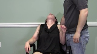 head shave eyebrow shave blowjob