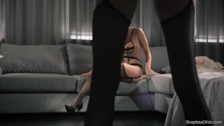 Hot Brunnette Mia Strapon Fucks Redhead Maria