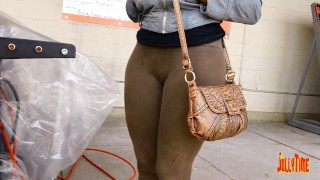 Brown Bubble Ass Camel Toe at Home Depot!