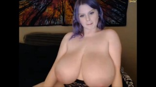 Cassie0pia's big boobs in black bra
