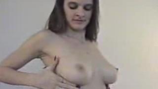 Big tit Wife fucks, husband watches!