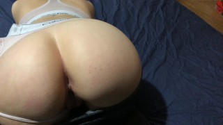 Fit Teen Girlfriend Sucks, Rides, And Takes A Creampie In 4K HD | FitNSexi