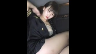 Chinese anchor masturbation and squirt in roadside car