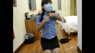 18 years old Chinese girl in uniform, love to play