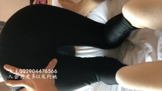 CHINESE FOOTJOB 跟会员约 超漂亮学生妹棉袜白丝足交 丝袜