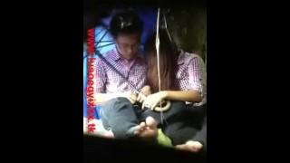 Myanmar Sucking Dick Karen girl sucking Chinese Dick in Public Garden Ygn